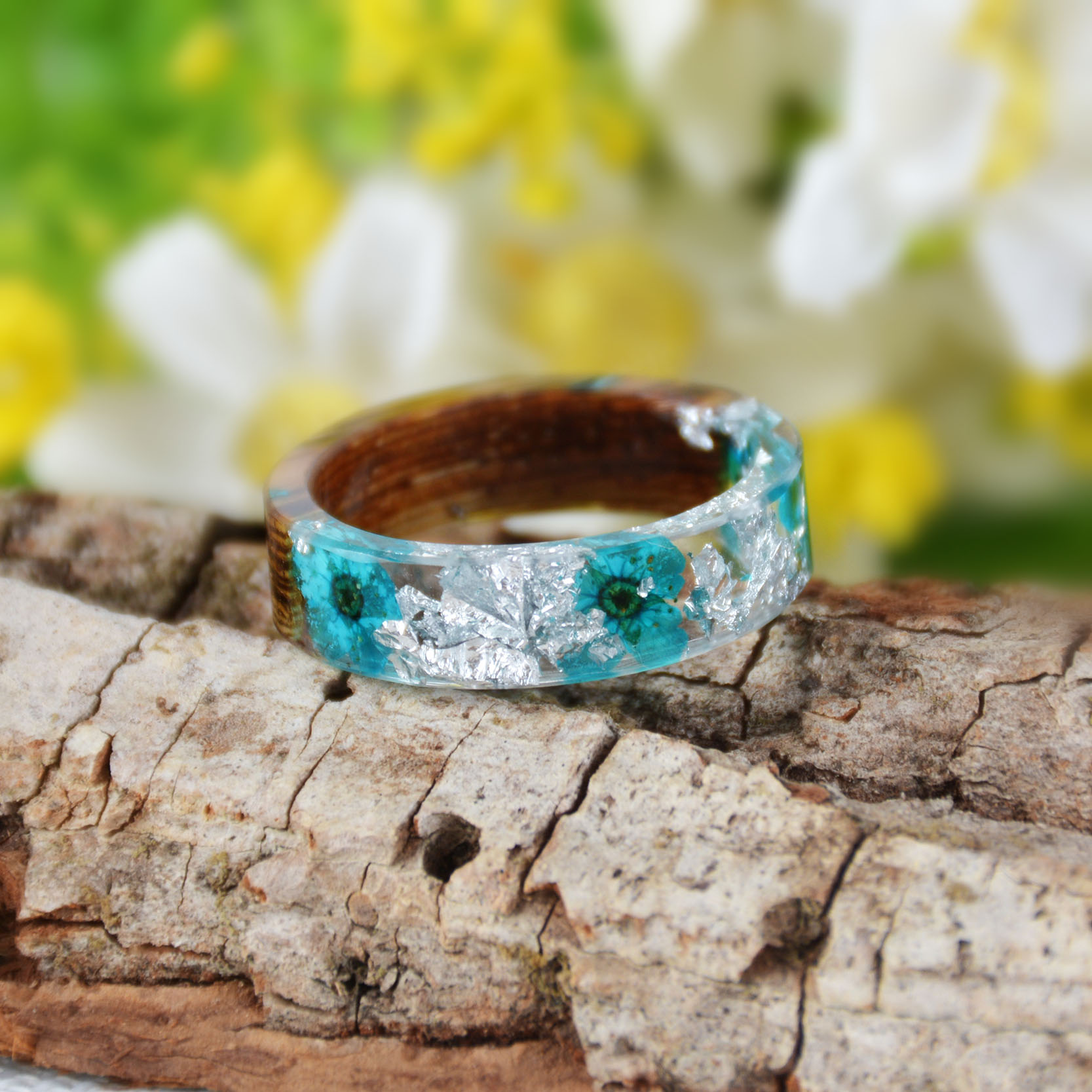Handmade Wood Resin Ring Many Styles 43