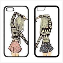 Two Girls Best Friends Cover Case for iPhone 4 4s 5 5s 5c 6 6s plus Samsung Galaxy S3 S4 S5 Mini S6 S7 Edge J5 J7 2016