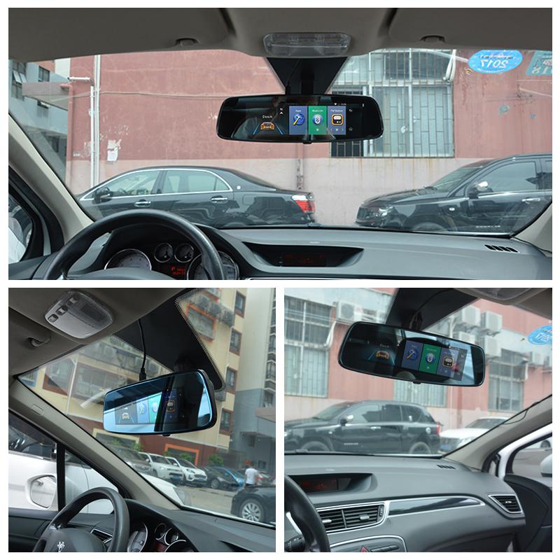 "Junsun 4G ADAS Car DVR Camera Digital Video recorder mirror 7.86"" Android 5.1 with two cameras dash cam Registrar black box 16GB 5"