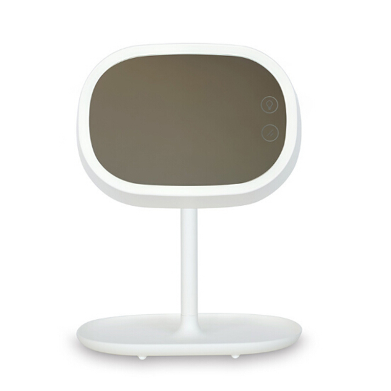 New Design Portable LED Table Lamp Luminous Makeup Mirror Flip Cosmetic Mirrors Tabletop Countertop Light Mirror<br>