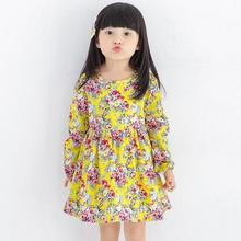Fashion Baby Dress Long Sleeve Pirncess Girls Clothes Spring Autumn Winter Children Dresses For Girl Floral Clothing Vestidos(China)