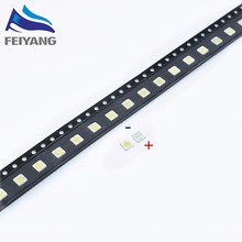 100pcs FOR WOOREE LED backlight LCD TV bead 6 V 1 W 3535 LED SMD Lamp bead 3535 cold white(China)