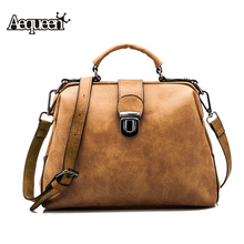 AEQUEEN Nubuck Leather Doctor Handbag Women Plaid Shoulder Bag Brown Vintage Retro Messenger Lady Tote Small Crossbody Designer