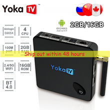 YOKATV KB1 Android 6.0 Smart Set Top TV Box 2GB/16GB Amlogic S905X Quad-core 4K*2K Dual Wifi Media Player PK A95X T95N HM8(China)