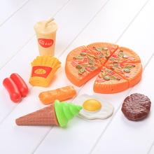Hot Sale New Creative Kids Pizza Party Cooking Accessories Pretend Kitchen Play House Role Play Toys