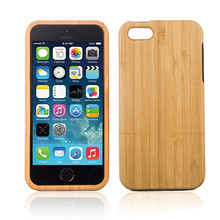 Genuine Natural Wood Wooden Bamboo Hard Back Case Cover For NEW iPhone 5C(China)