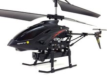 original S977 RC Helicopter 3.5 CH Radio remote Control With Camera Metal Gyro better than s107g syma(China)
