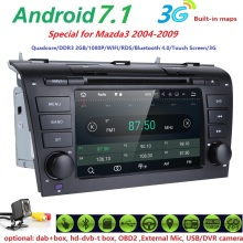 2G ROM 16G 1024*600 QuadCore Android 7.1 Fit MAZDA3 2004-2009 Car Monitor DVD Player GPS TV 3G Radio HD DVBT DVR SWC WIFI DAB SD
