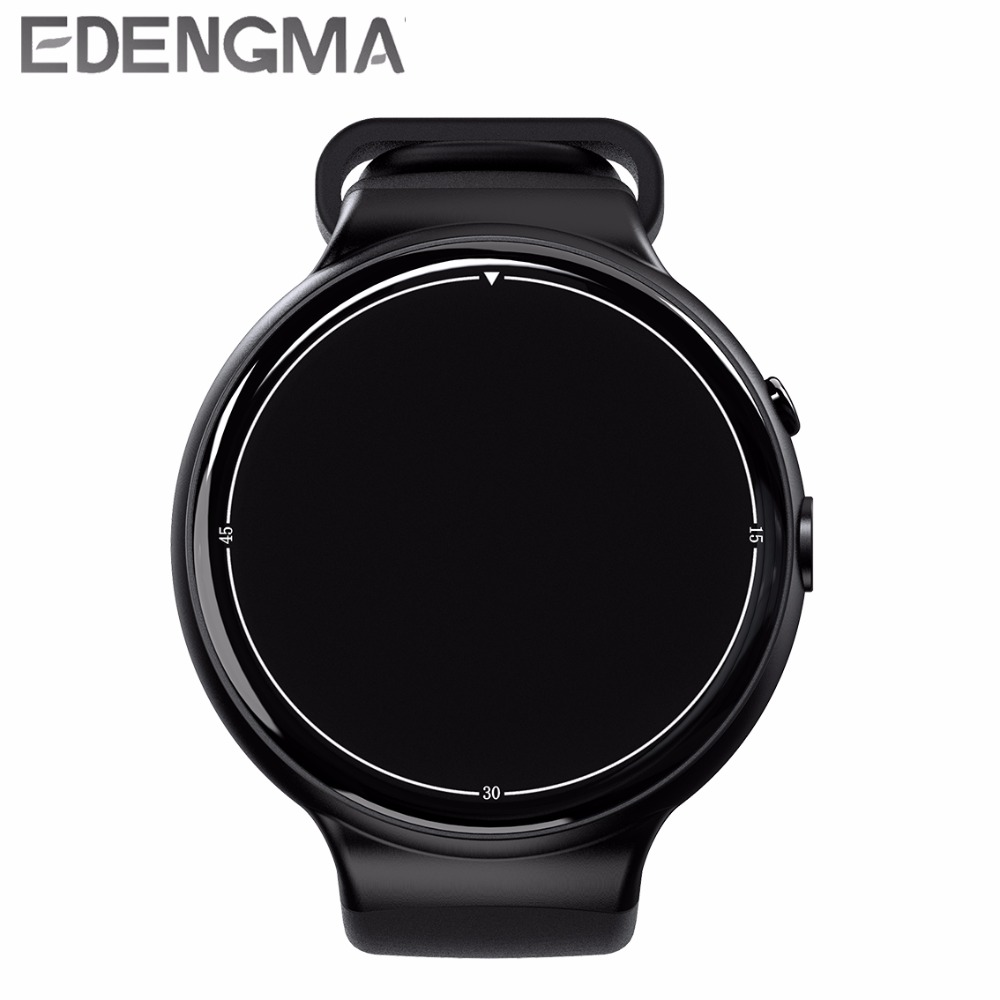 EDENGMA smart watch 3G network standard WIFI GPS navigation heart rate monitoring information push link Android phone