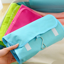 3 color Wash Bathroom Accessories Portable Hanging Organizer Bag Foldable Cosmetic Makeup Case Storage Traveling Toiletry Bags