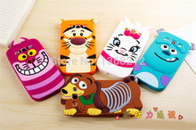 1- 3D Cartoon Silicon Case Cover For Samsung Galaxy S3 SIII i9300 Tigger Marie/Alice Cat Monsters Sulley Dog Cell Phone Cases