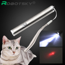 3 in1 500LM Mini LED Laser pointer UV Torch Pen Flashlight Multifunction Lamp for 50m Red laser(China)