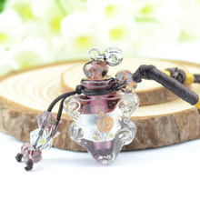 Popular Bright Color Glass Perfume Bottle MINI Scented Oil Necklace Accessories Lady Favor 5pcs/lot DC297(China)