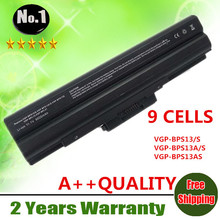 Wholesale New 9cells laptop battery FOR SONY  VGP-BPS13S FIT MODEL FOR VAIO VGN-AW  VGN-CS VGN-FW VGN-SR SERIES