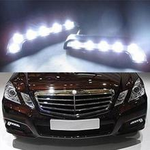 2Pcs 10W 12V 6pcs LEDs L-shaped Daytime Running Lights Seven Fonts Lamp Safelight Car Styling Led Parking Day Light(China)