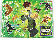 Promotion premiums GC-PTD-12-OPP Multicolor 25.6 X 18.6 cm 54PCS BEN 10 ALICE FORCE Cartoon Jigsaw puzzle manufacturer toy