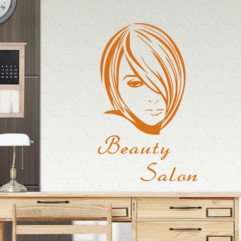 Hair Salon Sticker Beauty Scissors Decal Haircut Name Posters Vinyl Wall Art Decals Decor Decoration Mural Salon Sticker M0004