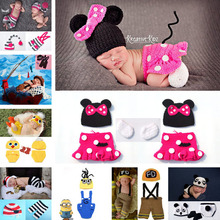 Hot Sale Crochet Infant Newborn Baby Photography Props Knitted Baby Boys Girls Cartoon Costume Bebe Foto Props(China)