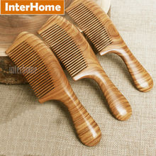 Top Grade Ebony Hair Combs Precious South American Green Macassar Wood Exquisite Craft Sandalwood Fragrance Pure Handmade Gifts