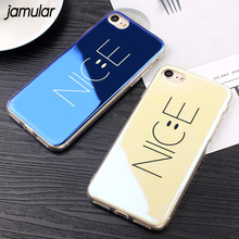 JAMULAR Simple Letters NICE Cases For iPhone 8 6 6S Plus Case Blue-Ray Phone Case For iPhone 7 8 Plus Accessories Cover Capa(China)