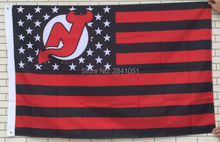 New Jersey Devils USA Star and Stripes Team American Outdoor Indoor Hockey Football Flag 3X5 Custom USA Any Team Flag