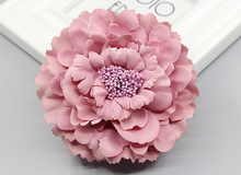 2016 trendy Fabric Blooming peony Flower Corsage Brooch woman Hair Decorations & Brooch wedding party Hair Clip Bridal Wedding