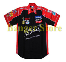 F1 overalls machine repair service auto repair DODGE logo beauty work clothes 4S Budweiser team short sleeve dress shirt(China)