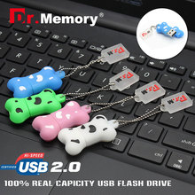 Pendrive cartoon dog bone Usb flash driver usb Stick 2GB 4GB 8GB 16GB 32GB/64gb Memory stick(China)
