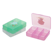 Portable portable box pill boxes medicine box Six small mini seal cycle Easy And Convenient(China)