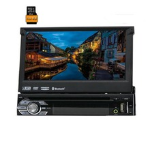 "HOT 1 Din 7"" Universal Car DVD Player With GPS Navigation Autoradio Stereo Central Multimedai System"