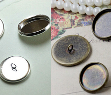10X  with18mm Wholesale Antique Bronze Cuff links Blank Cameo Bezel Cabochon Tray DIY Jewelry Findings and Components