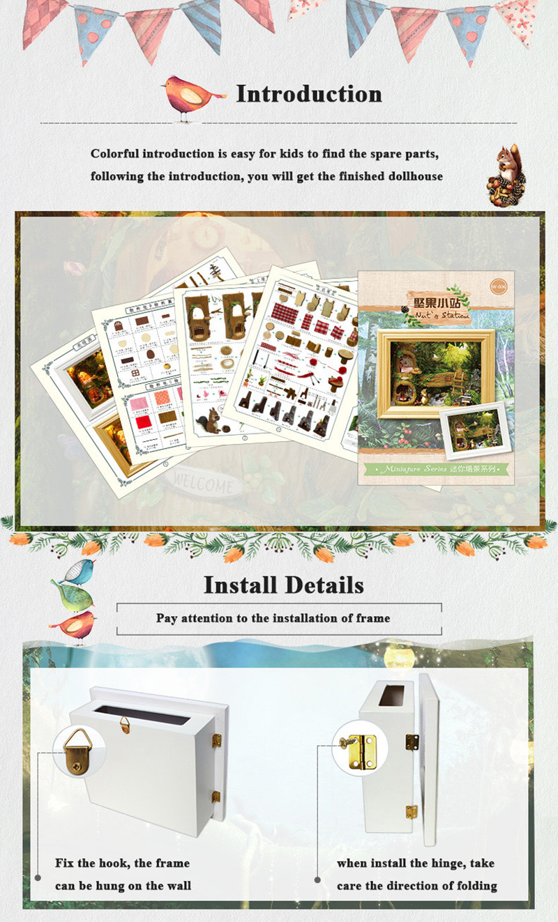 Doll House Miniature DIY Dollhouse With Furnitures Kits 3D Wooden Handmade  House Assemble Toys For Children Birthday Gift (13)