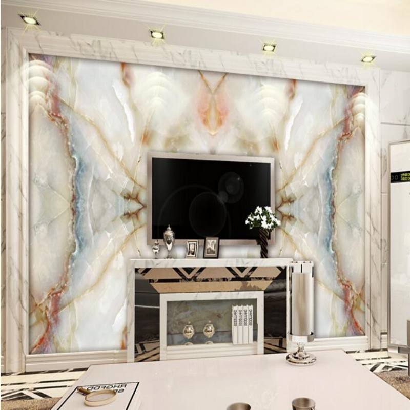 Custom large hd picture setting wall ceramic tile mural jade stone marble the sitting room TV setting wall mural wallpaper<br><br>Aliexpress