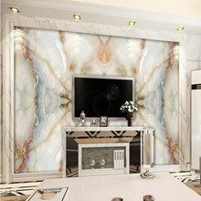 Beibehang Custom large hd picture setting wall ceramic tile murals jade stone marble the sitting room TV setting wall wallpaper(China)