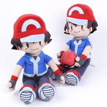 Anime Ash Ketchum Plush Toys Soft Stuffed Dolls 2 Styles 22cm(China)