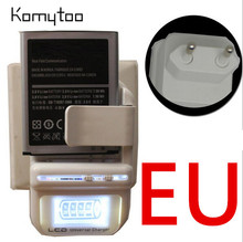 Hot Sale EU Plug LCD Indicator Screen Universal Travel LCD Battery Charger & USB Wall Mobile Phone Charger