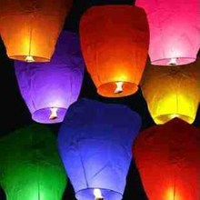 Diy 20 Pcs Chineses Sky Paper Lanterns Lamps Flying Wishing Lantern For Outdoor Party Decoration Balloon casamento mix Colors