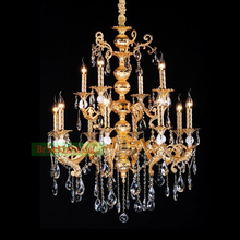 Die-Casting Zinc Alloy Chandeliers Maria Theresa Chandeliers Wrought Iron Chandeliers antiqued brass finish rustic chandelier(China)