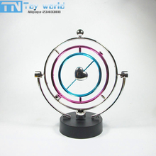 2017 Originality perpetual motion machine toy alloy Rotary moving apparatus sphere model toys best Decoration for kids gifts box