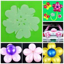 5pcs Balloon Seal Clip Multi Balloon Sticks Balloon Accessories Plum Flower Shaped Balloon Clips Set Randomly Color
