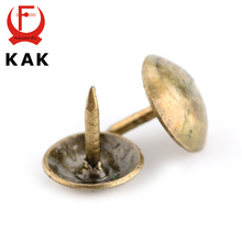 100PCS KAK 8.5x16mm Bronze Tacks Antique Decorative Jewelry Gift Box Push Pin 10x10mm Door Nail For Fasteners Hardware