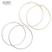New fashion jewelry huge hoop earring set 1lot=2pairs mix color diameter 75MM gift for women girl E3315(China)