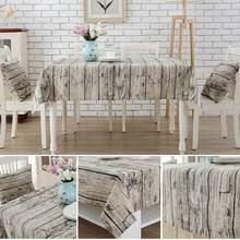 Table Cover Wood Linen Table Cloth Europe 3D Home Outdoor Party Toalha De Mesa Manteles Para Mesa Nappe De Table Tablecloth
