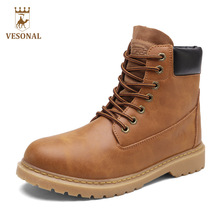 VESONAL Hot Sale 2017 Autumn Winter Working Men Boots Male Shoes Adult Work Safety Brand Casual Ankle Quality Designer Man Boot(China)