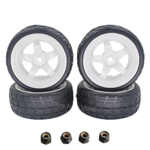 4PCS 26mm RC Tire & Wheel Rim Hex 12mm with Foam Insert For 1/10 On Road RC Model Car Tyres(China)