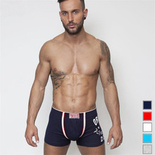Hot Boxers Men  Cartoon Letter  Cotton  Boxer Shorts Underwear  Brand  Wholesale  4PCS/Lot  M~ XXL
