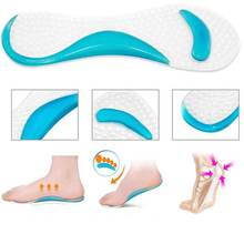 2Pcs=1Pair Insole Of Flatfoot Arch Support Cushion Pads Orthotics Protector Silicone Insoles For Shoes Gel Pads Foot Massage(China)