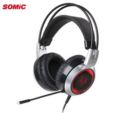 Original SOMIC G951 Smart Vibration Stereo Gaming Headphone Noise Reduction Headset With Mic For Computer PC Notebook