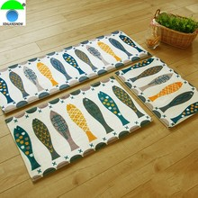 Fish Doormat Company Hall Bathroom Kitchenhome Carpet Water Washable Bath Mats Anti-skid Pad Coral Fleece Hotel Decoration