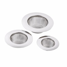 5Pcs/Pack Practical Sink Strainer Household Stainless Steel Kitchen Mesh Sink Drain Strainer New Style 3Sizes